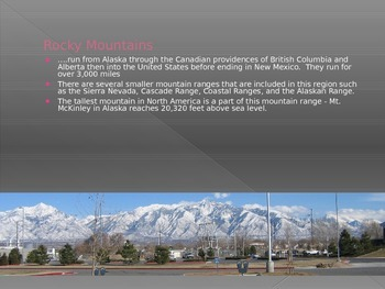 Mountain Ranges around the World PowerPoint