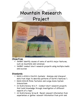 Mountain Research Project Lapbook