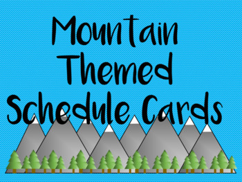 Mountain Schedule Cards (Woodland and Nature Themed)