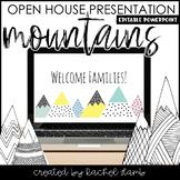 Mountain Theme Open House Parent Presentation PowerPoint Editable