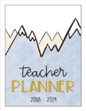 Mountain Theme Teacher Binder (NOW EDITABLE)