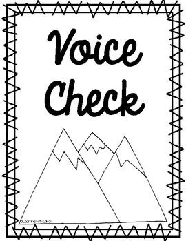 Mountain Theme Voice Level Charts
