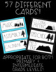 Mountain Theme (with Dunn-Inspired Font) Schedule Cards! Adventure Awaits!