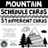 Mountain Theme (with Dunn-Inspired Font) Schedule Cards! A