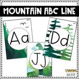 Water Color Mountain Theme Decor Alphabet Line