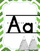 Mountain Themed Green Alphabet Posters