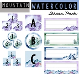 Mountain Watercolor Decor Pack