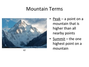 Mountains Powerpoint Presentation