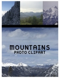 Mountains Clipart (For Personal or Commercial Use)
