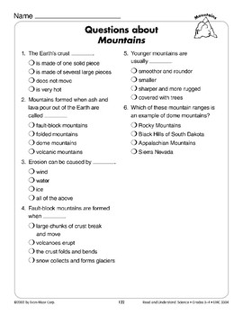 Mountains (Earth & Space Science/Landforms)