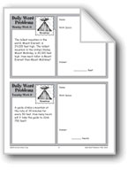 Mountains (Grade 4 Daily Word Problems-Week 17)