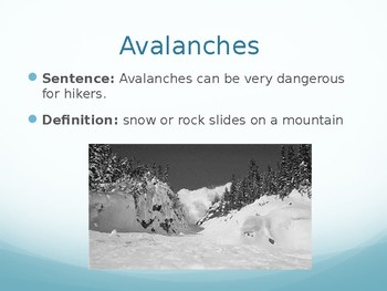 Mountains Saving Mt. Everest Interactive Vocabulary Lesson, Journeys Lesson 25