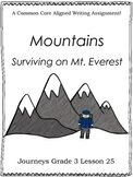 Mountains:  Surviving on Mt. Everest--Journeys Grade 3-Lesson 25