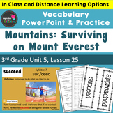 Mountains: Surviving Mount Everest Vocabulary PowerPoint