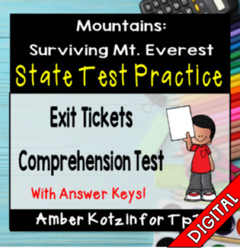 Mountains: Surviving Mt. Everest State Test Prep - 3rd Grade Journeys