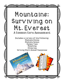 Mountains: Surviving on Mt. Everest Assessment