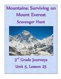 Mountains: Surviving on Mt. Everest Scavenger Hunt (Journeys 3rd grade)
