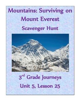Mountains: Surviving on Mt. Everest Scavenger Hunt (Journeys 3rd grade)