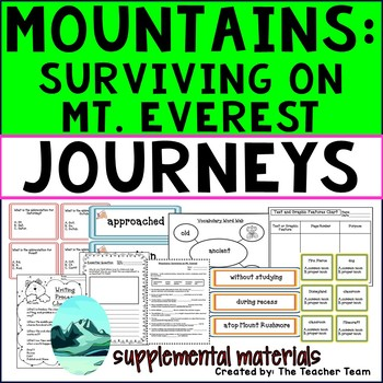 Mountains: Surviving Mt. Everest Journeys 3rd Grade Unit 5 Lesson 25 Activities