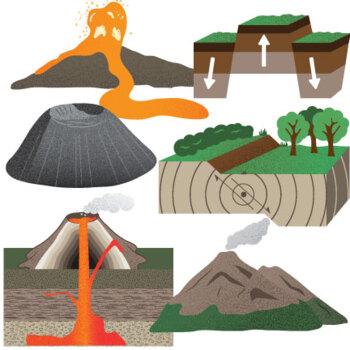 mountains volcanoes and earthquakes clip art by studio devanna tpt rh teacherspayteachers com landform clipart free landform clipart free