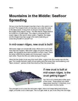 Mountains in the Middle: Seafloor Spreading