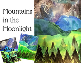 Mountains in the Moonlight: A Watercolor Painting Activity