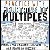 Mountains of Multiples Math Practice