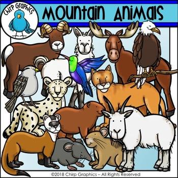 Mountain Animals Clip Art Set - Chirp Graphics