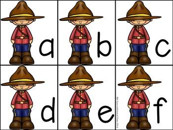 Mountie Alphabet Freebie
