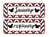 Mouse Calendar - Months and D