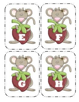 Mouse Capital Alphabet Flash Cards