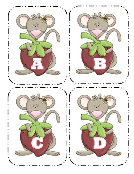 Mouse Capital Alphabet Flash Cards