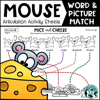 Mouse & Cheese / Cookie Word and Picture Match Articulation