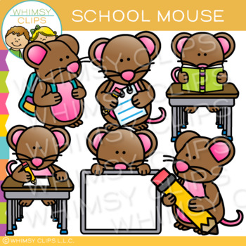 School Mouse Clip Art