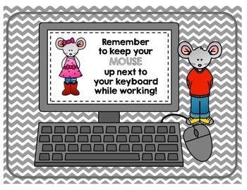 Mouse Control Reminder Poster Set