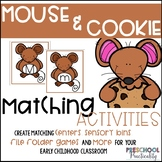 Mouse Cookie Matching Activities for Toddlers, Preschool,