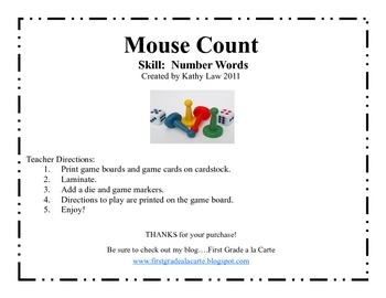 Mouse Count--Number Word Game