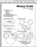Mouse Craft Template PDF