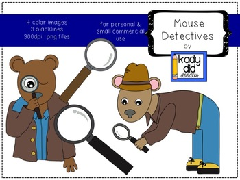 Mouse Detectives {Kady Did Doodles}