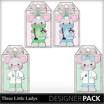 Mouse Doctor Hang tags