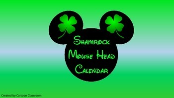Mouse Ears St. Patrick's Day Calendar