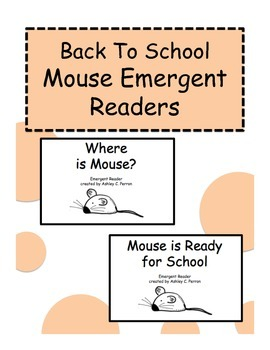 Mouse Emergent Readers--Back to School