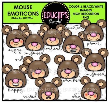 Mouse Emoticons Clip Art Bundle {Educlips Clipart}
