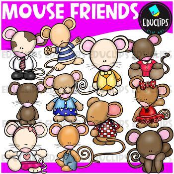 Mouse Friends Clip Art Bundle {Educlips Clipart}