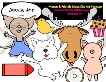 Mouse & Friends Mega Clipart Pack