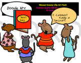 Mouse Gossip Clip Art Pack