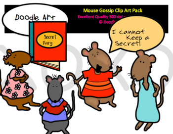 Mouse Gossip Clip Art Pack