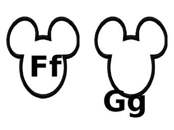 Mouse Hat Alphabet Letters