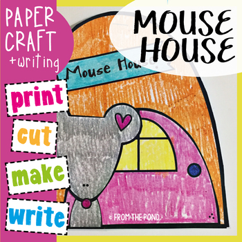 Mouse House {ou words} - Paper Craft