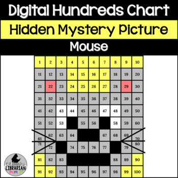 Mouse Hundreds Chart Hidden Picture Activity for Math or Fairy Tales Theme